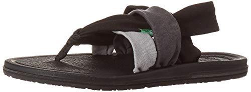 Sanuk Women's Yoga Sling 3 Sandal, Gradient Grey/Black, 11 M US