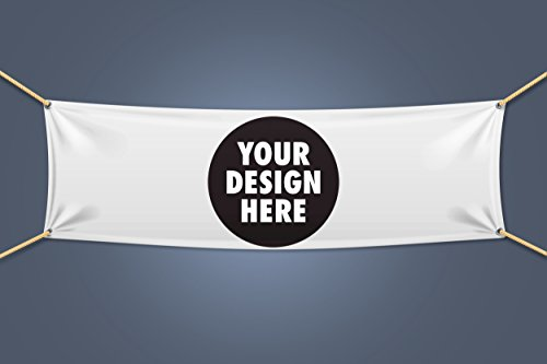 Custom Vinyl Business Banner with Full Color/Text Banner and Vinyl Banner Indoor Outdoor Use with True Solvent Ink Signs and Grommets by Sign4Business (Custom Text Banner)