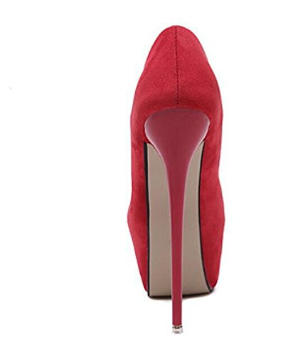 Chaussures Femmes Fermeté-Toe Chaussures , red , 38