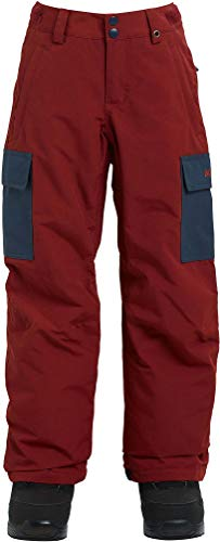 Burton Boys' Exile Cargo Snow Pant, Sparrow/Mood Indigo, Large