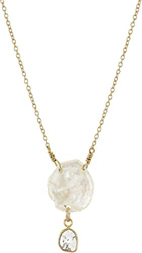 Chan Luu Women's White Pearl and Diamond Necklace White One ()