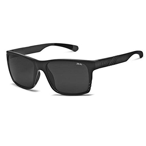 Zeal Optics Unisex Brewer Matte Black W / Dark Grey Polarized Lens - Zeals Sunglasses