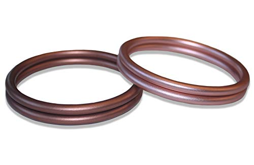 Bonne Vie Baby Aluminium Rings for Slings - Bronze & Rose Gold (1 Pair of Each Color) - Large 3 Diameter