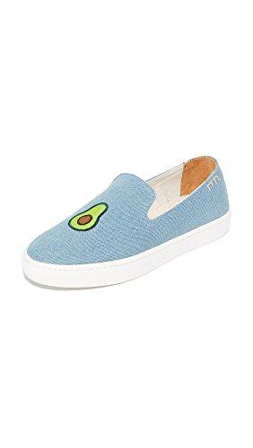 Soludos Women's Avocado Slip On Sneakers, Light Denim, 5.5 B(M) US