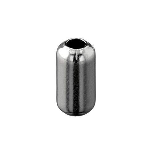WireJewelry Sterling Silver Bead Bright Cylinder 5x10mm