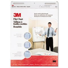 Professional Flip Chart Pad, Unruled, 25 X 30, White, 40 Sheets, 2/carton By: 3M