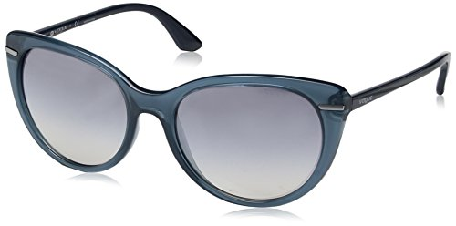 VOGUE Women's Light and Shine Collection Non-Polarized Iridium Cateye Sunglasses, Opal Light Blue, 56 - Brand Vogue Sunglasses