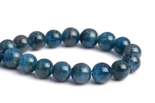 5mm Genuine Natural Dark Blue Apatite Grade Round Gemstone Loose Beads 7.5'' Crafting Key Chain Bracelet Necklace Jewelry Accessories Pendants ()