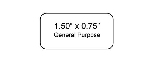 1200 per Package 1.50 x 0.75 Inches Fits 1.5-2.0ml Tubes WetGrip Micro-Tube Laser Printer Labels