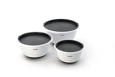 Berghoff CooknCo PolyPropylene Mixing Bowl Set, Food Storage Set with Lids, Light Slate - 6pc