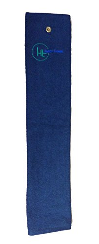 """HardyThings Embroidered Premium Golf Towel, 16"""" x 27"""", Color won"""