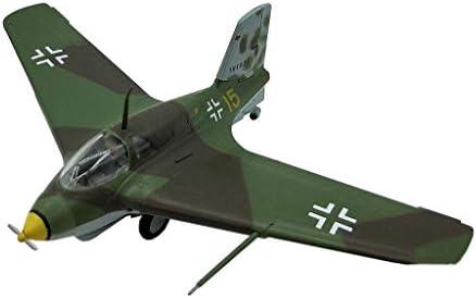 1/72スケール戦闘機モデル、軍事JG ME163ジェット戦闘機のプラモデル、大人のグッズやギフト、3.9Inch X3.1In