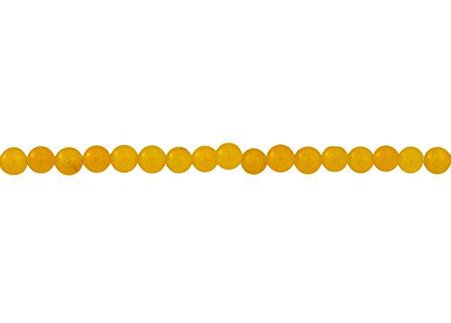 4mm Honey Jade Round Beads (15-Inch Strand) (One 15