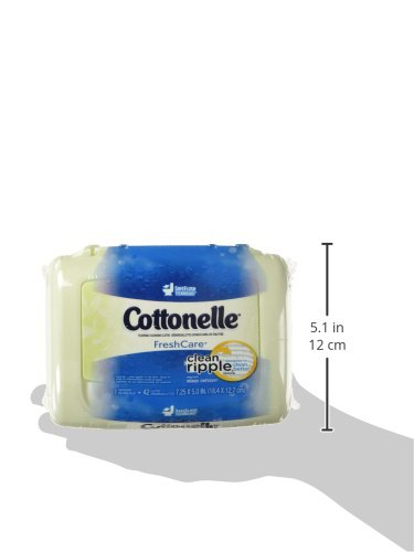 311eaybeUCL - Cottonelle FreshCare Flushable Wipes for Adults, Wet Wipes, Alcohol Free, 1 Pack of 42 Wet Wipes