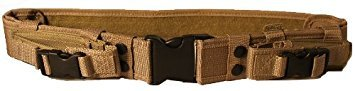 Ultimate Arms Gear Tactical Tan QD Quick Detach Web Duty Belt With Dual Magazine Or Flashlight ()