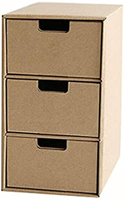 Archivadores Caja de Almacenamiento Papel Escritorio Caja de Almacenamiento Oficina Estudiante Caja de Acabado Combinación Libre Cajón Multicapa HUYP: Amazon.es: Hogar