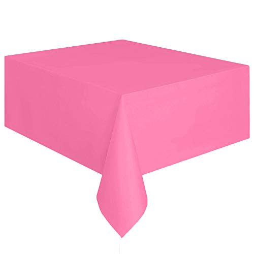 - Mome Rectangle Table Cover 1PC Large Tablecloth Covers &Disposable Plastic Tablecloth&Kitchen,Dining,Party,Indoor,Outdoor Tabletop Supplies (Hot Pink)
