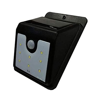 Carl Artbay Outdoor Motion Sensor Light, Solar Powered Security Lights Weatherproof Wireless Outside Wall Lamp Super Bright 8 LED White Flood Light for Garden Yard Deck Walkway