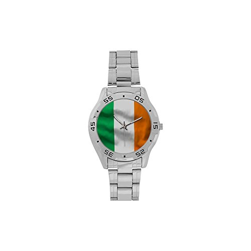 Irish Flag Men's Stainless Steel Analog Watch