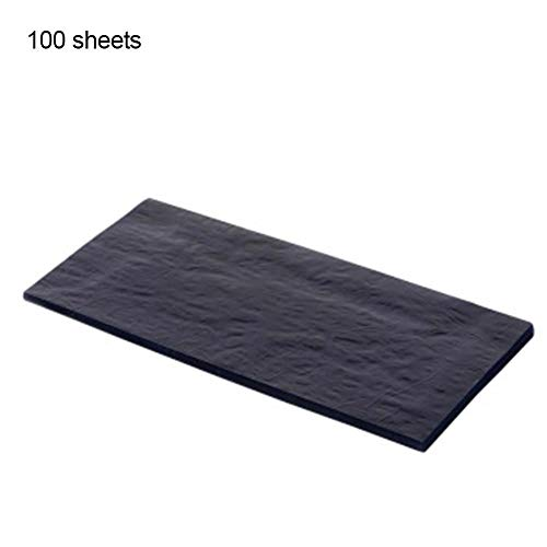 Gracefulvara 100PCS Blue Double Sided Carbon Paper 48K Thin Kind Stationery Paper Finance Office Stationery