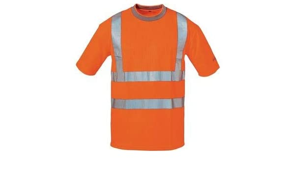 Feldtmann 22712 M fuerte Style Advertencia Protección UV-Camiseta, Naranja, M: Amazon.es: Bricolaje y herramientas