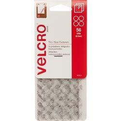 Velcro Bulk Buy Brand Mini Fasteners 3/8 inch Dots 56/Sets White (6-Pack) by VELCRO
