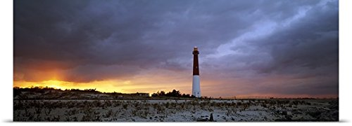 GREATBIGCANVAS Entitled Sunset Barnegat Lighthouse State Park NJ Poster Print, 36