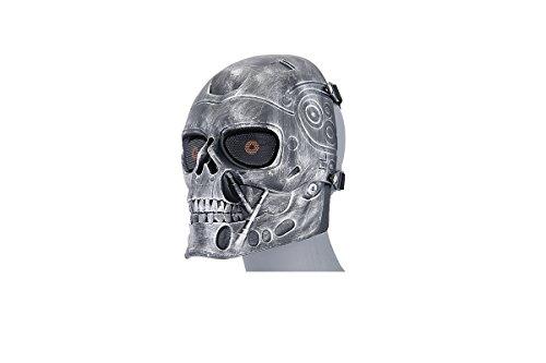 Terminator Costume Mask (UK Arms Airsoft Terminator Tactical Mask - SILVER/BLACK)
