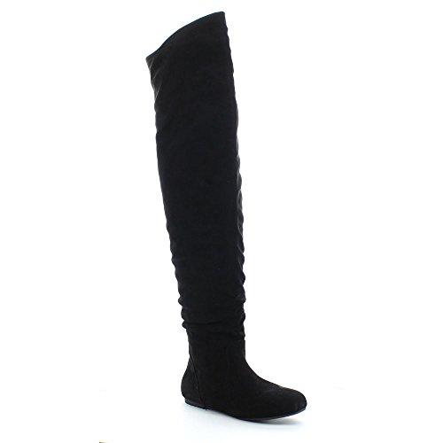da-viccino-top-01-hi-womens-slouch-size-zipper-flat-tigh-high-boots-colorblack-size10