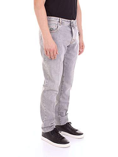 Denim Jeans Uomo Grigio Luigi Tj112caracciolo Borrelli SB7IwI