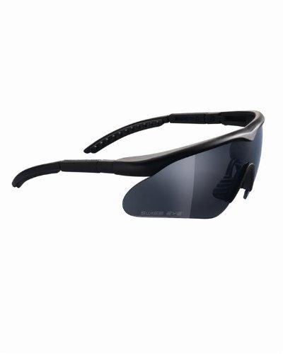 Swiss Eye - Swiss Eye Raptor Ballistic Sunglasses - Black, Coyote or Olive Green (Black)