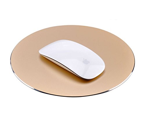 Sky Hiker Aluminium Alloy Mouse Pad Both Sizes Use, PU Leather Base & High Accuracy Optimized Tracking for Fast and Accurate Control