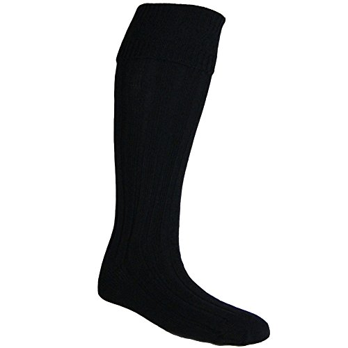 USA Kilts Men's Kilt Hose Medium Black (Kilt Hose compare prices)