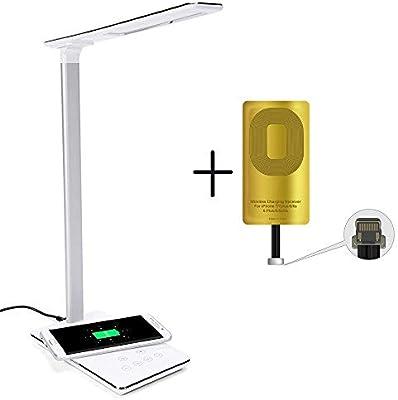Control 5 Réglable Fil ChargeBureau Chevetamp; Lampe De En1 Luminosité Port 3 Modes Touch Niveaux Sans Usb Led 4 Chargeur lc1TF3KuJ