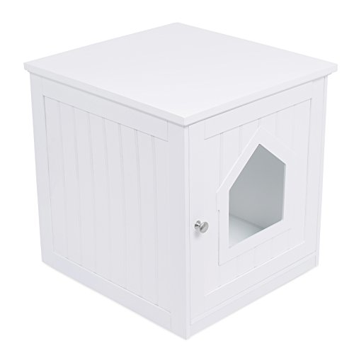 Cat House Side Table Pet Home Indoor Wooden Cage Furniture Litter Box Enclosure Ebay
