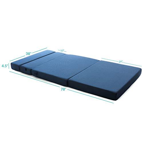 Milliard Tri-Fold Foam Folding Twin Mattress and Sofa Bed