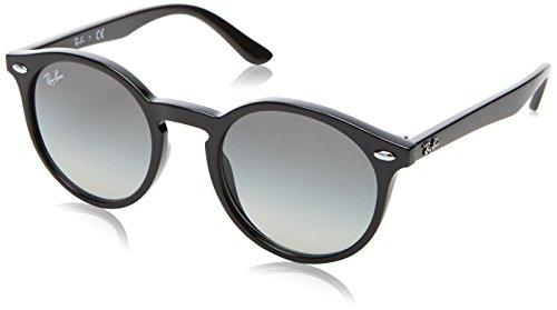 Ray-Ban Kids' Injected Unisex Round Sunglasses, Black, 44 - Sunglasses Ban Ray On Logo