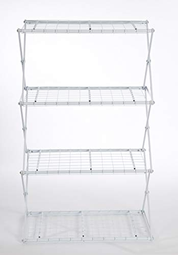 Flower House Exy EXY40W 4-Tier Shelving System, - Patio Flowerhouse Set