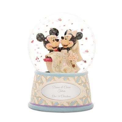 Things Remembered Personalized Jim Shore Mickey & Minnie Snow Globe with Engraving Included