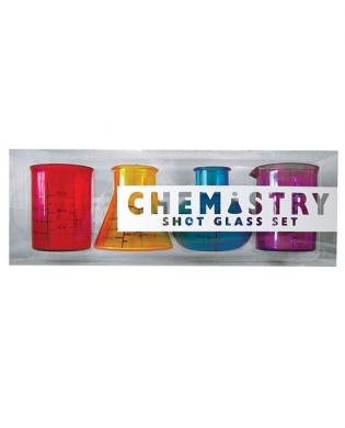 Chemistry shot glass - set of 4 Chemistry shot glass - set of 4