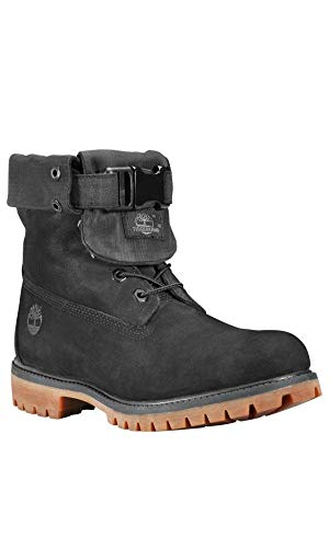 Timberland Mens Special Release Leather Gaiter Boots Black Nubuck A1Z2N Size 11