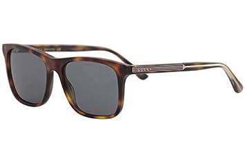 Gucci Gafas de Sol GG0381S HAVANA/BLUE hombre: Amazon.es ...