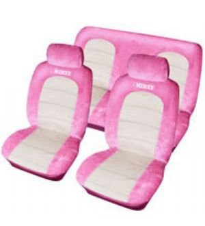 Minxy Pink Car Seat Cover Set Amazoncouk Kitchen Home