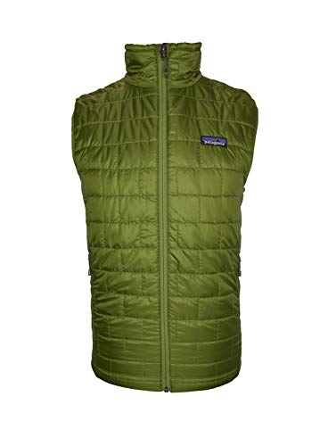 Patagonia Men's Sprouted Green Nano Puff Vest (Patagonia Lightweight Vest)