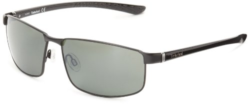 Timberland Men's TB9035SW6102R Polarized Wrap Sunglasses,Black,61 - Timberland Sunglasses Mens