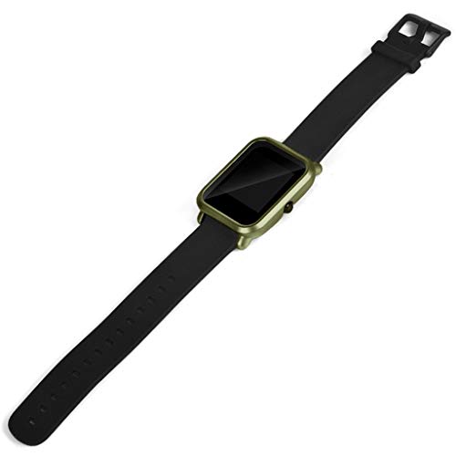 OUBAO PC Case Thin Cover Cover Protect Colorful Shell for Xia omi Huami Amaz fit Bip Youth Watch with Screen Protector (Army Green) by OUBAO (Image #4)