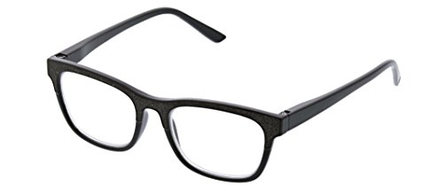 Peepers Women's Foxy Mama - Black 2505225 Square Reading Glasses, Black, 2.25