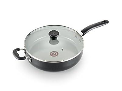 T-fal G9019064 T-Fal Specialty Ceramic Dishwasher Oven Safe Jumbo Cooker, 5 quart, Black