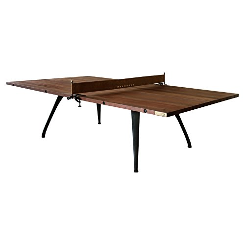 Kathy Kuo Home Palazzo Industrial Loft Wood Metal Ping Pong Table