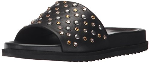 Dolce Vita Women's Gia-s Slide Sandal Black Leather 1QAZypg4A